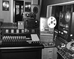 Picture of an old recording studio via 1969